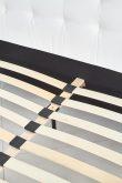 SAMARA 160 - łóżko tapicerowane czarne / białe 4