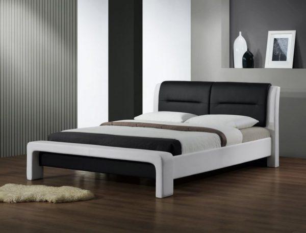 CASSANDRA 160 - łóżko drewniane czarno-białe 1