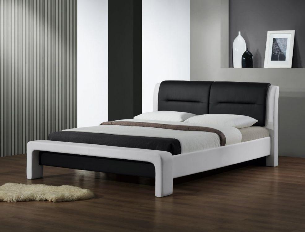 CASSANDRA 160 - łóżko drewniane czarno-białe 3