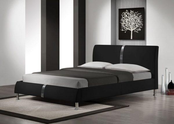 DAKOTA 160 - łóżko tapicerowane czarne 1