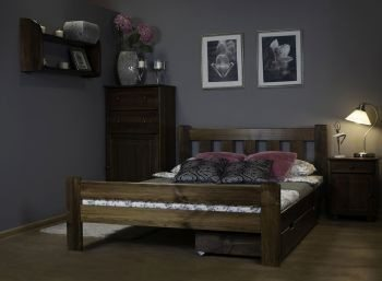 Łóżko ALMA 120 orzech 3 meblearkadius