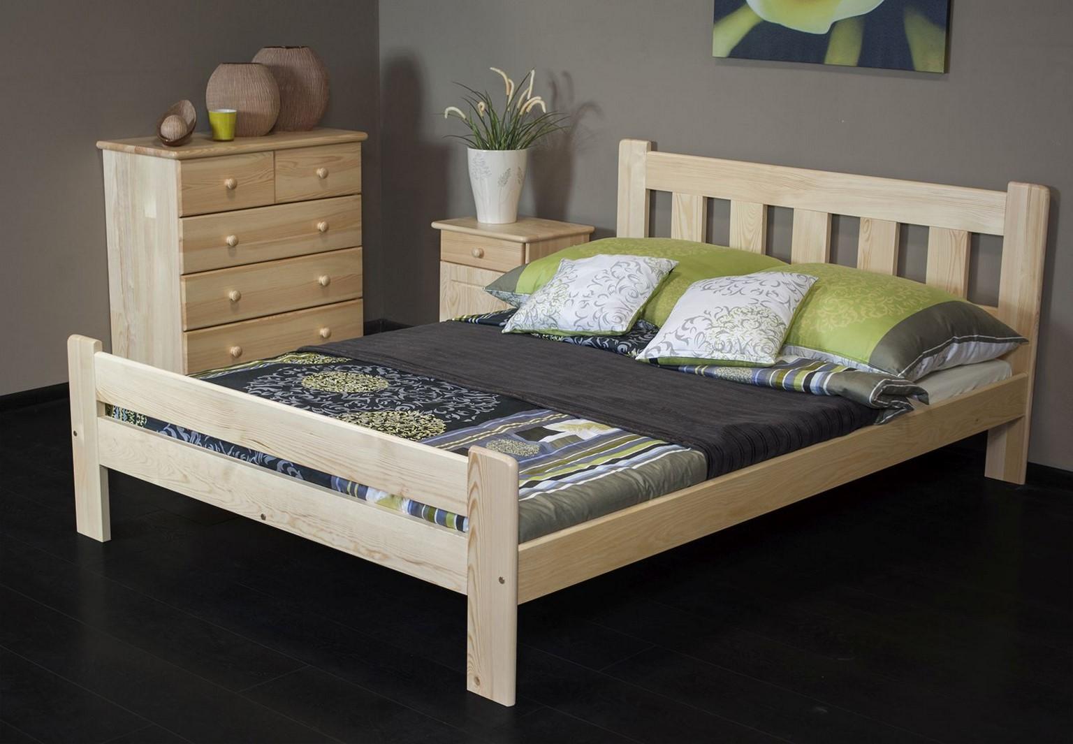 Łóżko ALMA 145 x 205 kolor sosna 2