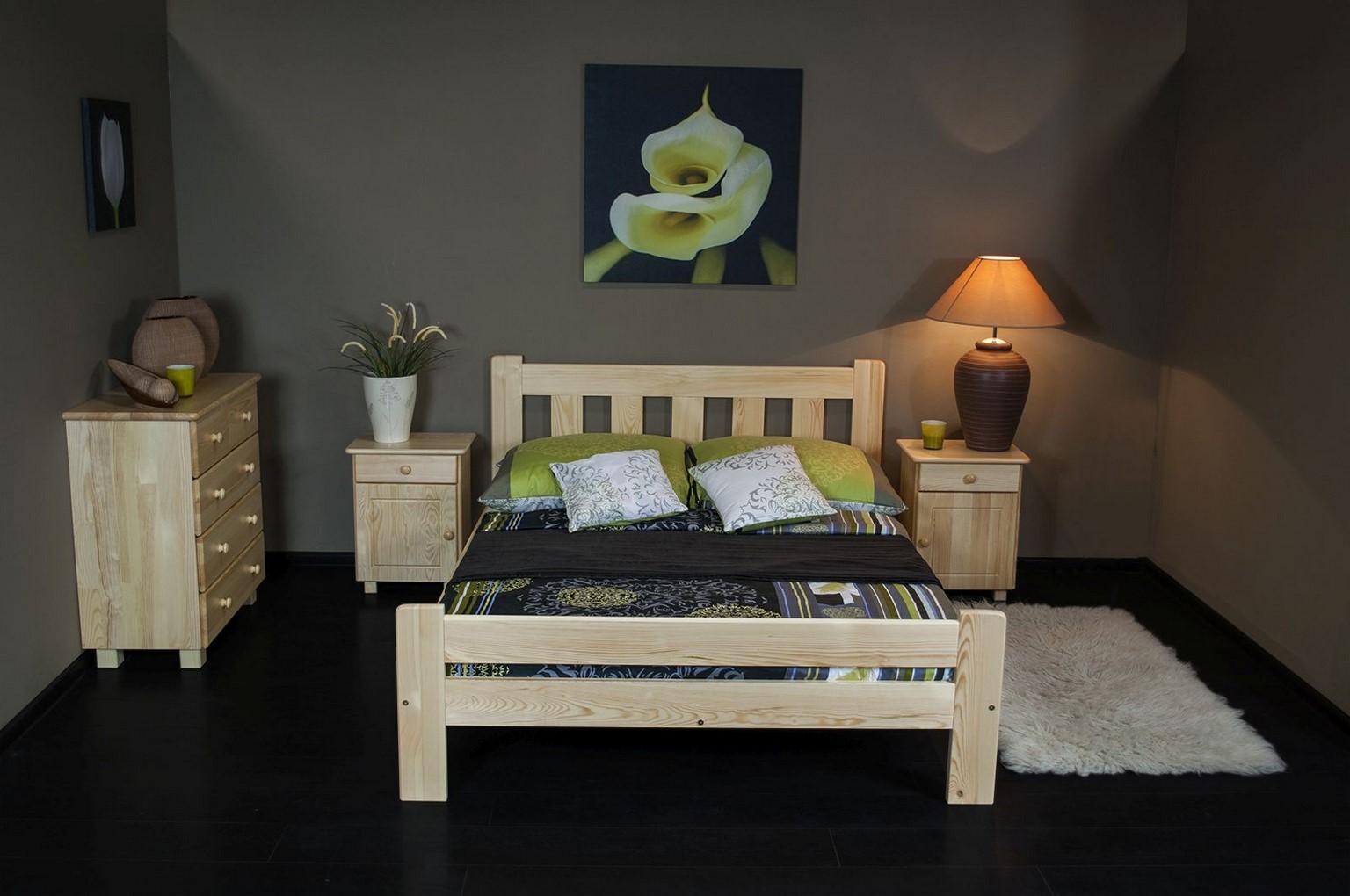 Łóżko ALMA 125 x 205 kolor sosna 7