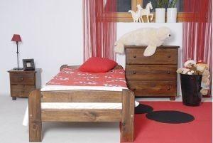 Łóżko BIG 90 orzech 1 Meble Arkadius