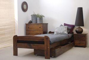 Łóżko BIG 90 orzech 3 Meble Arkadius