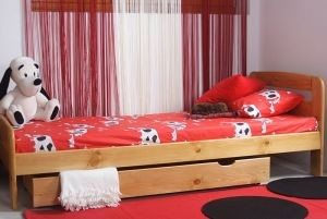Łóżko ELMIRA 90 olcha 1 Meble Arkadius