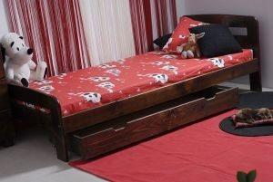 Łóżko ELMIRA 90 orzech 4 Meble Arkadius