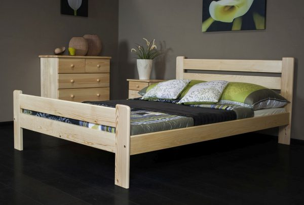 Łóżko LAURA 145 x 205 kolor sosna 1