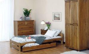 Łóżko LOOK 90 dąb 1 Meble Arkadius