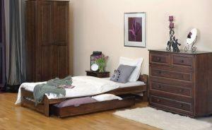Łóżko LOOK 90 orzech 1 Meble Arkadius