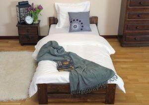 Łóżko LOOK 90 orzech 3 Meble Arkadius