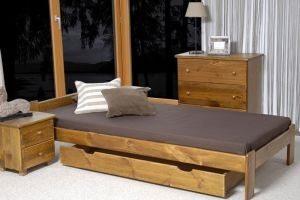 Łóżko NAT 90 dąb 2 Meble Arkadius
