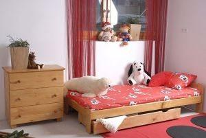 Łóżko NAT 90 olcha 1 Meble Arkadius