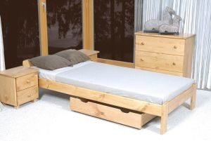 Łóżko NAT 90 olcha 3 Meble Arkadius