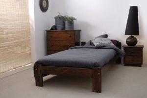 Łóżko NAT 90 orzech 1 Meble Arkadius