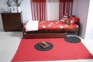 Łóżko NAT 90 orzech 2 Meble Arkadius