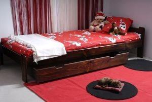 Łóżko NAT 90 orzech 3 Meble Arkadius