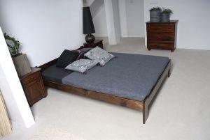 Łóżko NAT orzech 2 Meble Arkadius