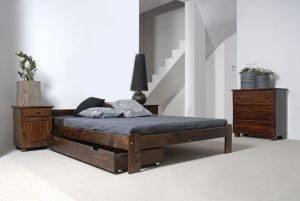 Łóżko NAT orzech 3 Meble Arkadius