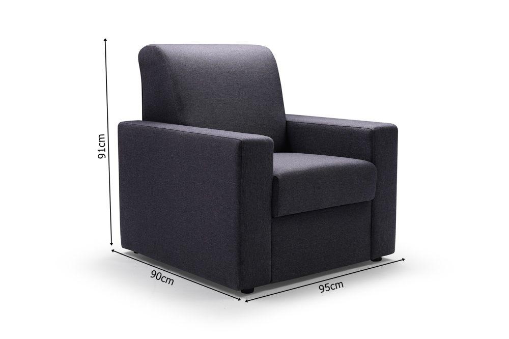 EVELINE - wygodny fotel ze schowkiem 8