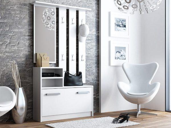 DIANA - biała garderoba do przedpokoju 1