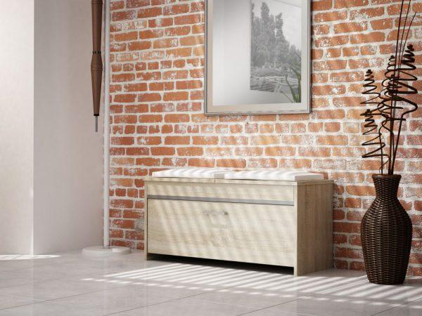 NEAPOL – szafka na buty z siedziskiem sonoma 1