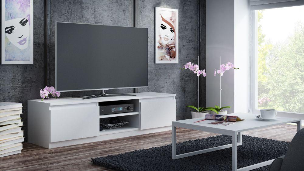 CARRO 140 - szafka RTV stolik RTV biały mat 31