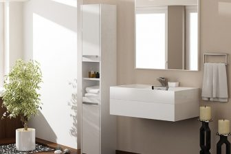PROVENCE 40S - słupek łazienkowy biały 7