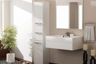 PROVENCE 43S - słupek łazienkowy biały 8