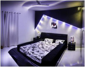 Ciemne meble do sypialni