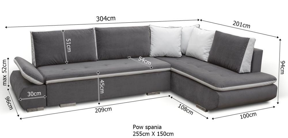 Narożnik ARGENTINO - narożnik z dużą powierzchnią spania 3
