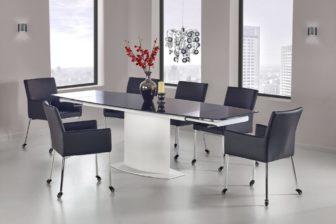 ANDERSON - stół rozkładany czarno - biały 8