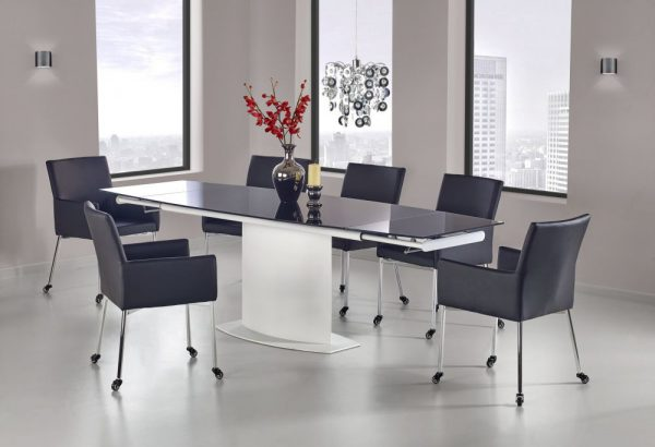 ANDERSON - stół rozkładany czarno - biały 1