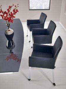 ANDERSON - stół rozkładany czarno - biały 3