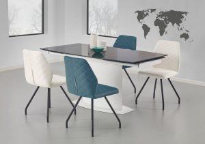 ANDERSON - stół rozkładany czarno - biały 4