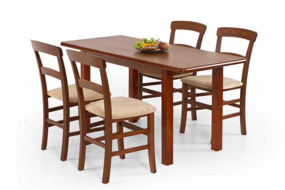 DINNER - stół rozkładany biały/ciemny orzech 2
