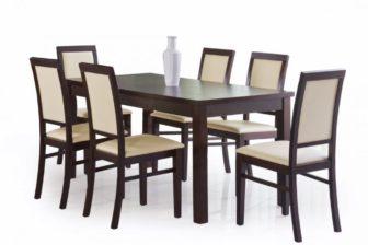 ERNEST - duży stół rozkładany ciemny orzech 4