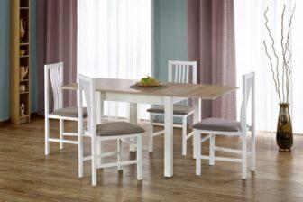 GRACJAN - stół rozkładany dąb sonoma + biel 8