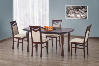 HENRYK - stół rozkładany 160/200 ciemny orzech 7