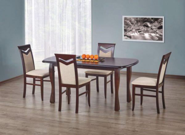 HENRYK - stół rozkładany 160/200 ciemny orzech 1