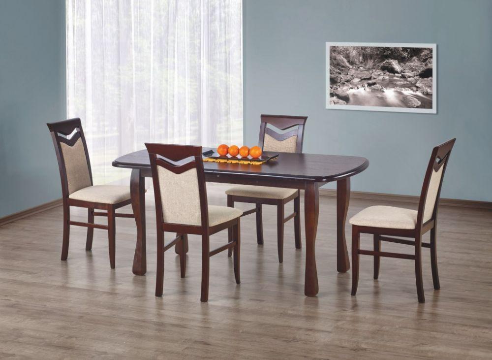 HENRYK - stół rozkładany 160/200 ciemny orzech 2
