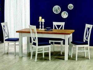 LEONARDO - stół rozkładany biel + dąb miodowy 3