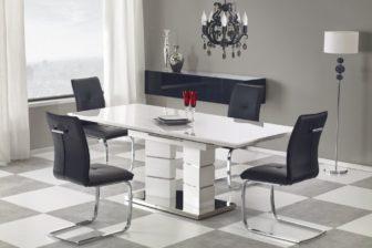 LORD - stół rozkładany biały połysk 3