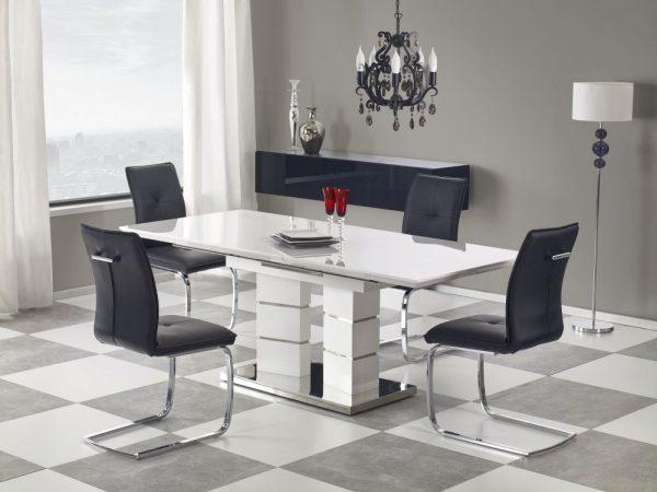 LORD - stół rozkładany biały połysk 1