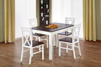 MAURYCY - stół rozkładany ciemny orzech + biel 5