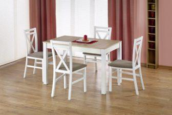 MAURYCY - stół rozkładany dąb sonoma + biel 7