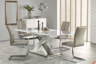 SANDOR 2 - duży rozkładany stół do salonu popiel połysk 5