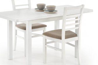 DINNER - stół rozkładany biały/ciemny orzech 7