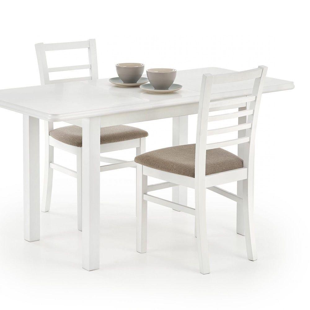 DINNER - stół rozkładany biały/ciemny orzech 3