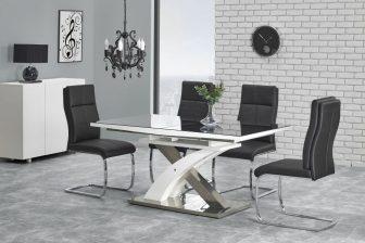 SANDOR 2 - duży stół do salonu czarny połysk 8